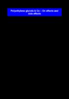 Polyethylen Glycol & Co Sobre Efectos Y Efectos Colaterales